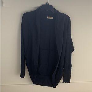 Hollister Oversized Cardigan Sweater Navy Blue